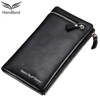 Luxury Brand Men Wallets Genuine Leather Clutch Wallets Men Purses Long Male Wallet Bag Famous Designer Wallet Card Holder