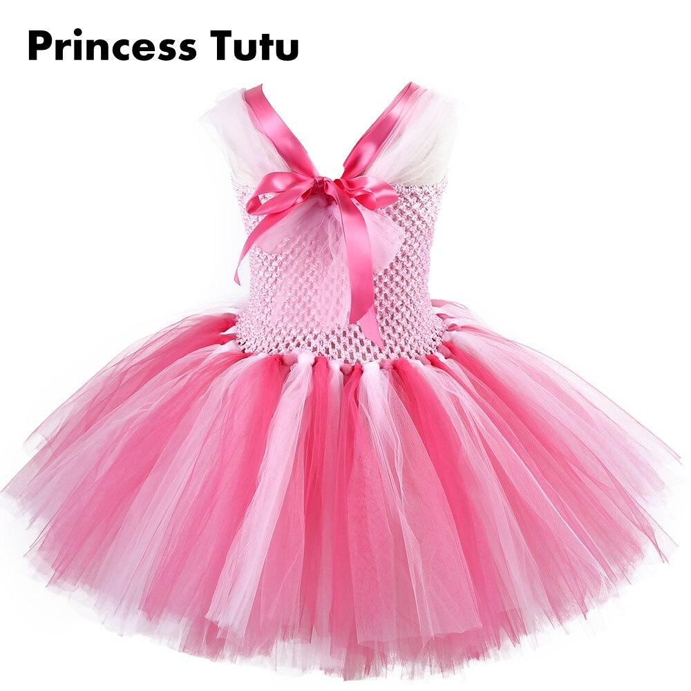 Inspirado Rosa color rodilla poco cerdo chica Carton Cosplay Tutu ...