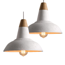 Modern Restaurant Light Creative dining room American Restoration cement pendant lamp Wood cafe light loft Chandelier