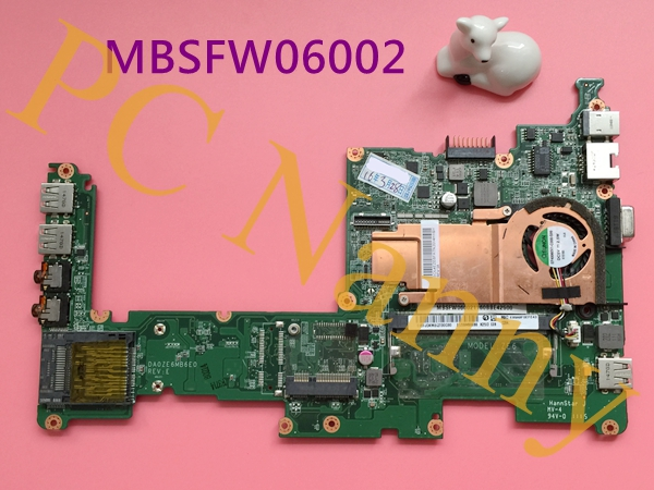 MBSFW06002 DA0ZE6MB6E0 For Acer Aspire One D257 Laptop Intel Motherboard Atom N435 1.33GHz DDR3 Intel GMA 3150