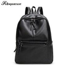 New Fashion Pu Leather Women Backpacks Female Multi Pocket Travel Backpacks Women Back Bags Large Big School Bags For Girl