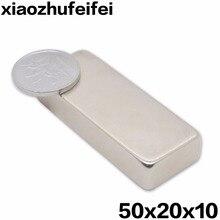 5 шт. 50*20*10 большой объем супер сильные полосы Магниты редкоземельные неодимовые 50x20x10 N35 50 мм x 20 мм x 10 мм