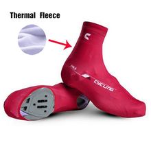 2017 Hot Fleece Thermal Cycling Shoe Cover Sneaker Overshoes 6 Colors Road Bicycle Bike MTB Winter Cycling Shoe Cove