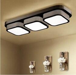 ZYYNEW kreatywny prostokątny kształt mody lampy sufitowe z LED żarówki proste Acylic kryty światło dla sypialni nowość oświetlenie