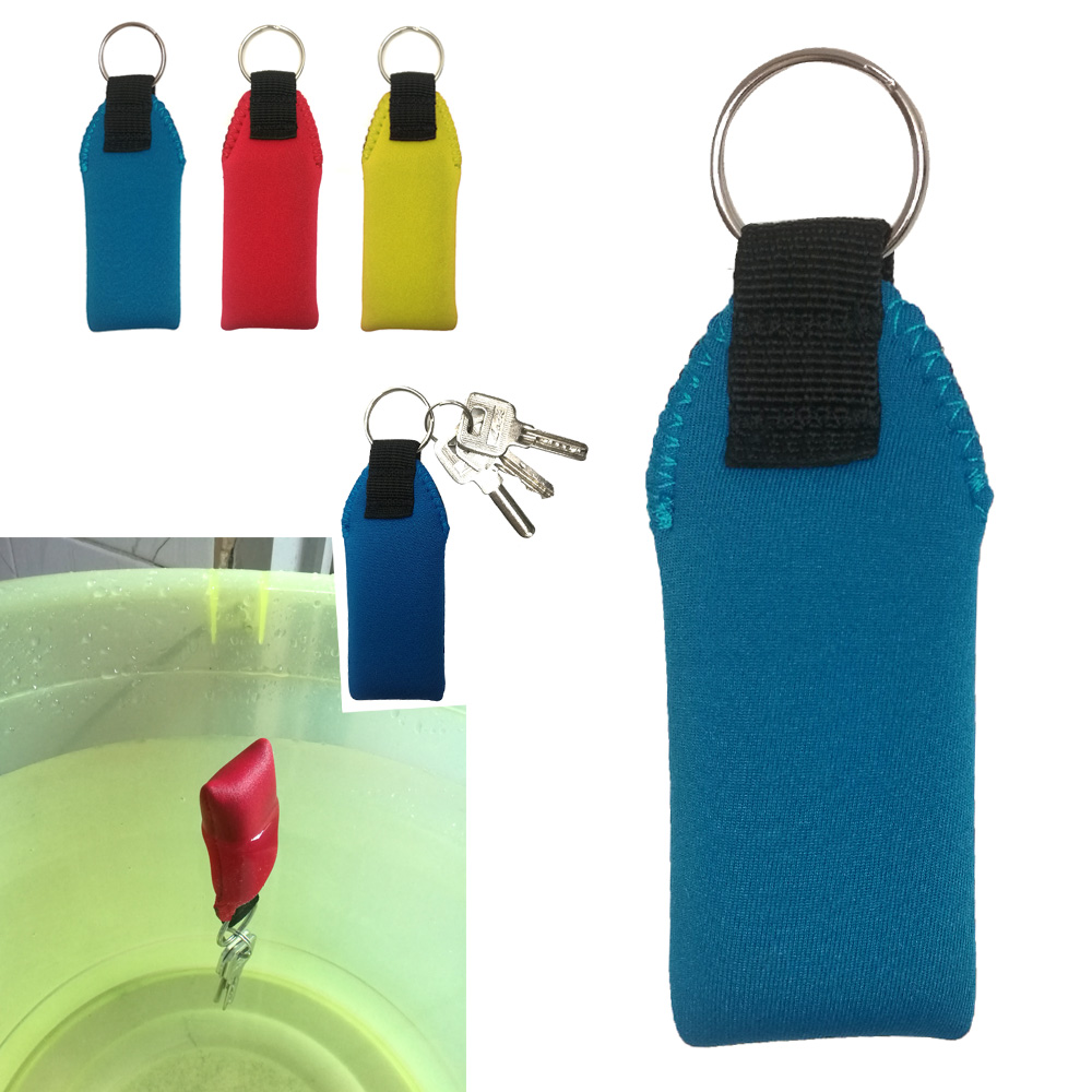 1/2PC Water Sports Buoyant Float Keyring Neoprene Floating Float Buoy Key Chain Kayak Yacht Sailing Boating Fishing Canoe Gift