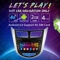 """7 """"Android 6.0 (64bit) DDR3 2G/16G/4G LTE Quad Core Rádio Do Carro DVD GPS Unidade de Cabeça Para Hyundai Verna/Accent/Solaris/i25 (2011 ~ Em Diante"""