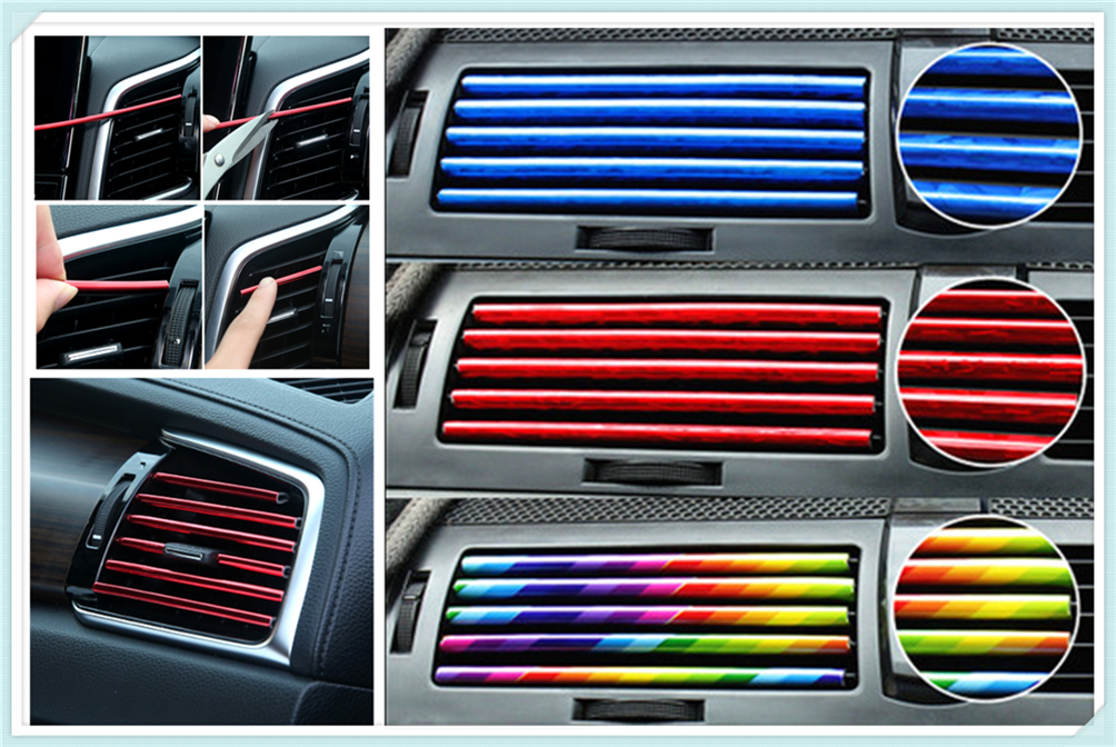 Bande décorative en forme de U de couleur chromée brillante pour Ford Expedition EcoSport Kuga f-series Escape