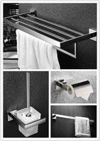 Free Shipping 304 Stainless Steel Towel Rack Towel Bar Paper Holder Oilet Brush Holder Hardware Sets