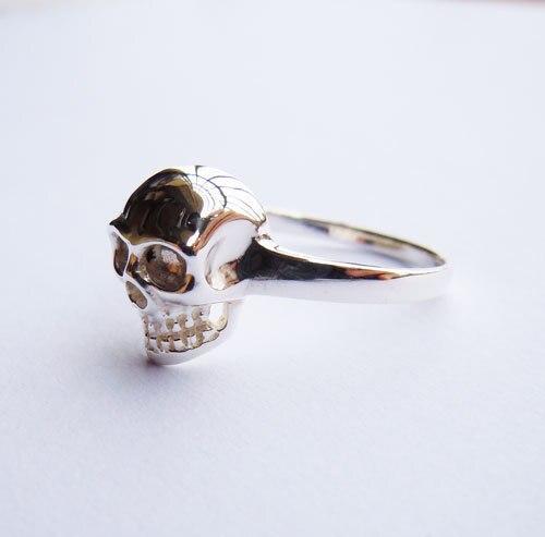 Ստերլինգ արծաթյա գանգ օղակաձև բոլոր - Նորաձև զարդեր - Լուսանկար 4