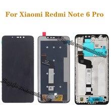 מקורי LCD עבור Xiaomi Redmi הערה 6 פרו LCD תצוגת מסך מגע Digitizer עצרת עבור Redmi הערה 6Pro תיקון חלקים עם מסגרת