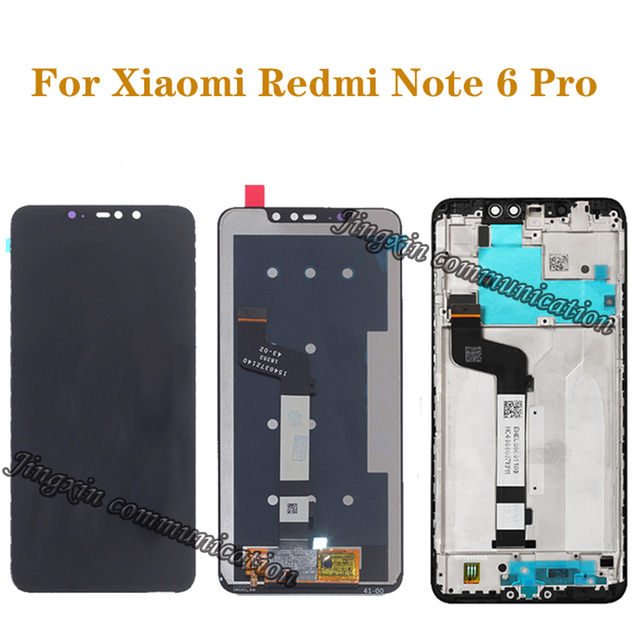 Original LCD For Xiaomi Redmi Note 6 Pro LCD Display Touch Screen Digitizer Assembly for Redmi Note 6Pro Repair Parts with Frame