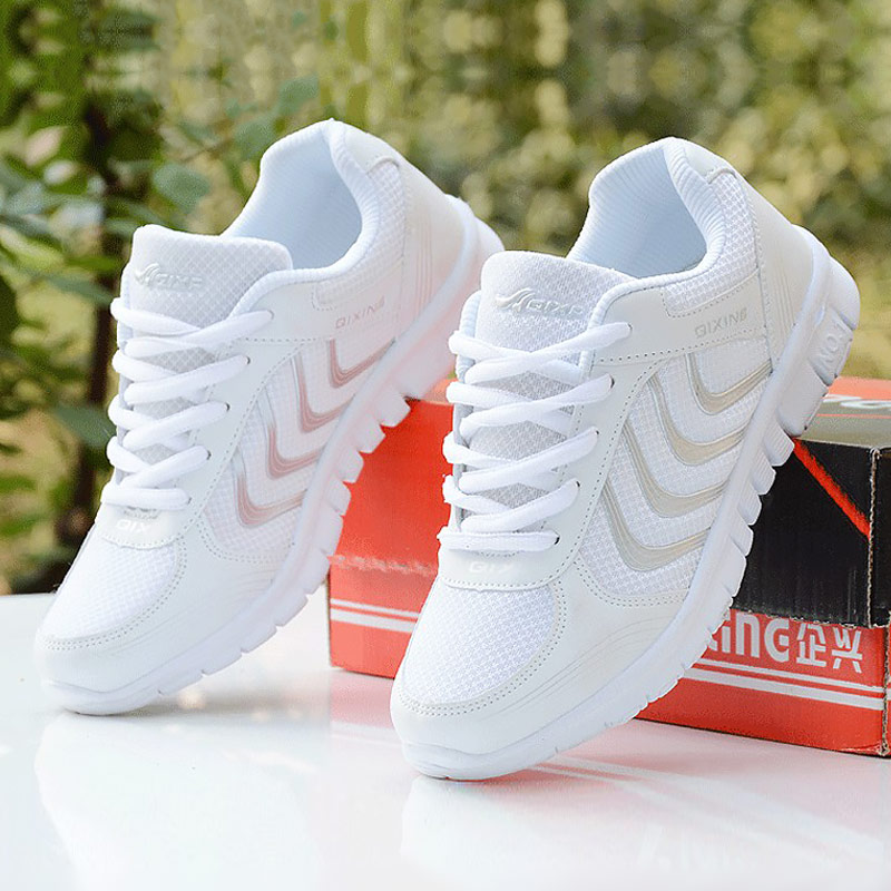 Women sneakers 2019 new arrivals fashion women shoes white breathable mesh casual shoes woman tenis feminino wedge sneakers