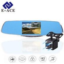 E-ACE Autoregistrator Full HD 1920*1080 Dvr Coche Dash Cámara Espejo Retrovisor Con Dos Cámaras de Vídeo Videocámara Grabadora Digital