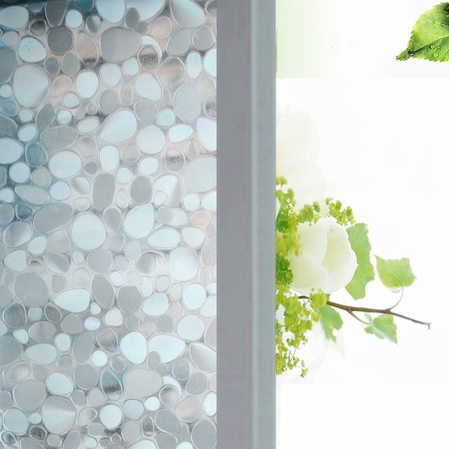 45500 Cm Opaque Colorful Pebbles Frosted Decorative Window Films Vinyl Static Cling Self Adhesive
