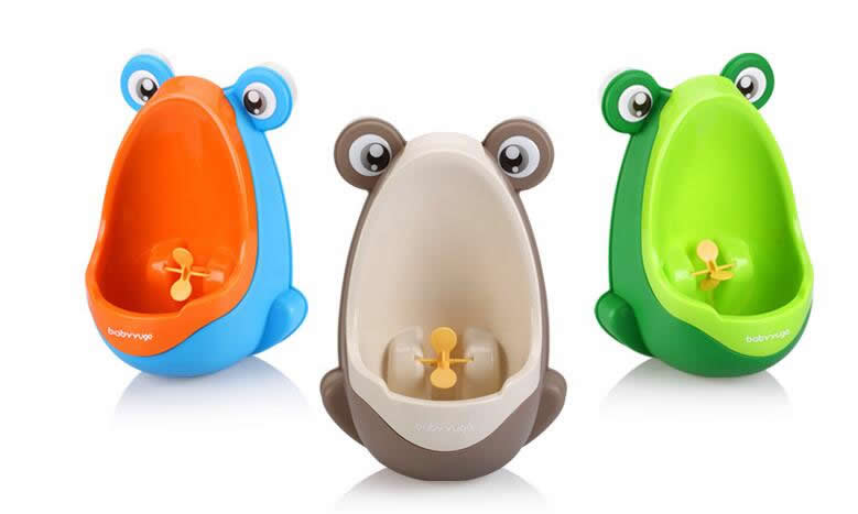 2017 Useful Cute Fun Children Frog Potty Toilet Training Kids Urinal For Boys Kids Pee Trainer Bathroom Potties Baby Care
