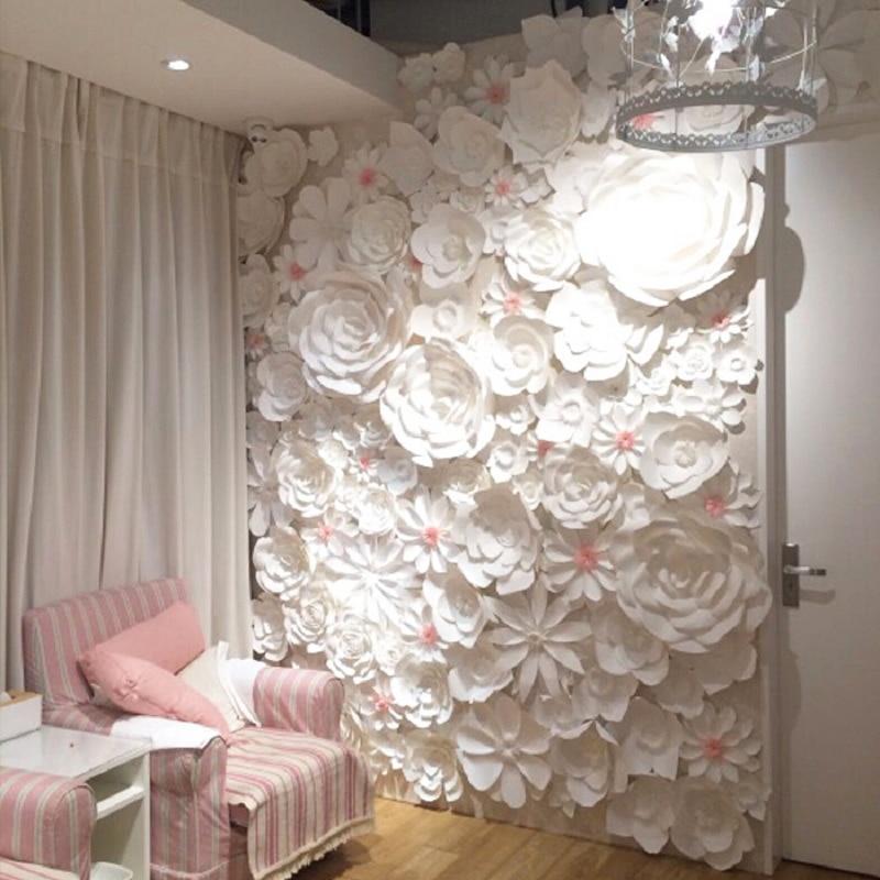 84pcs Set Large Full Wall Giant Paper Flowers Wedding
