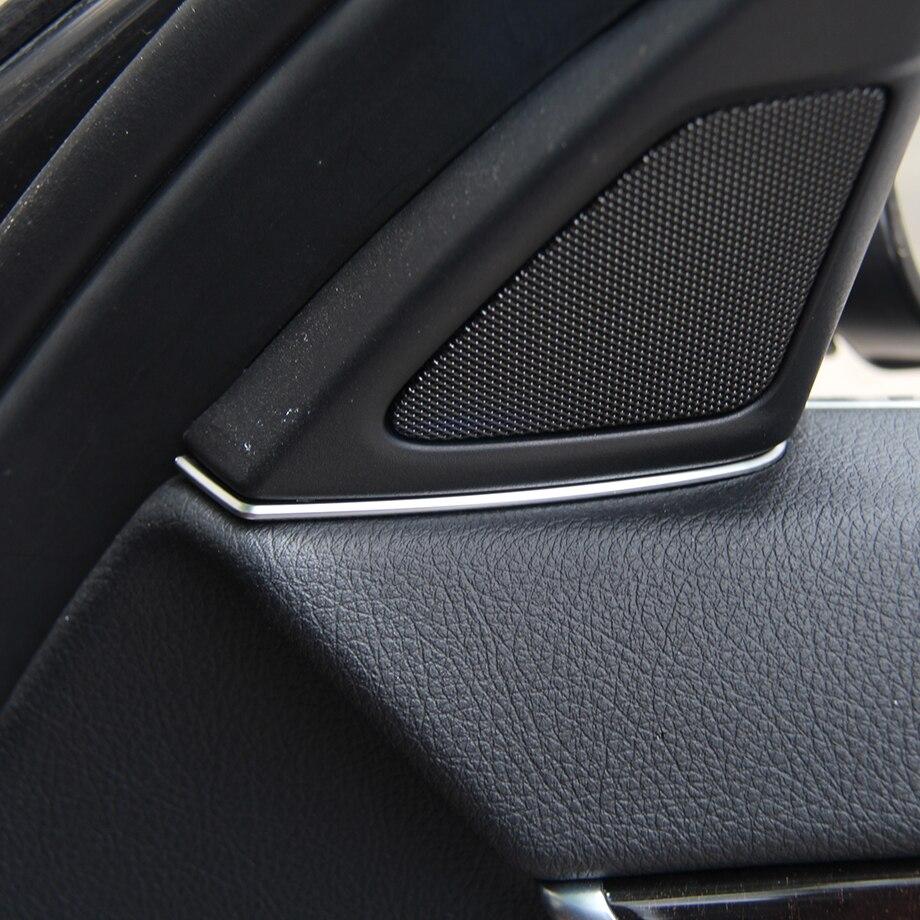 """2 vnt """"Chrome"""" garso kolonėlės dangtelis, skirtas BMW 5 serijos F10 520 523 525 2011-2015 automobiliui"""