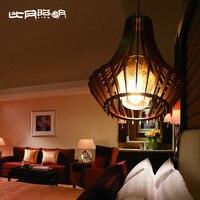 Лампы в китайском стиле деревянный короткий подвесной светильник 3067
