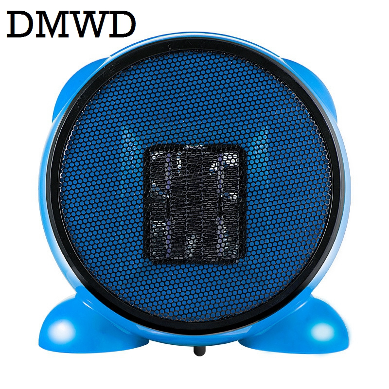 DMWD Electric Heaters Portable MINI Personal Ceramic heater Warm Air Blower Winter warmer Radiator desktop Thermal Fan 110V 220V