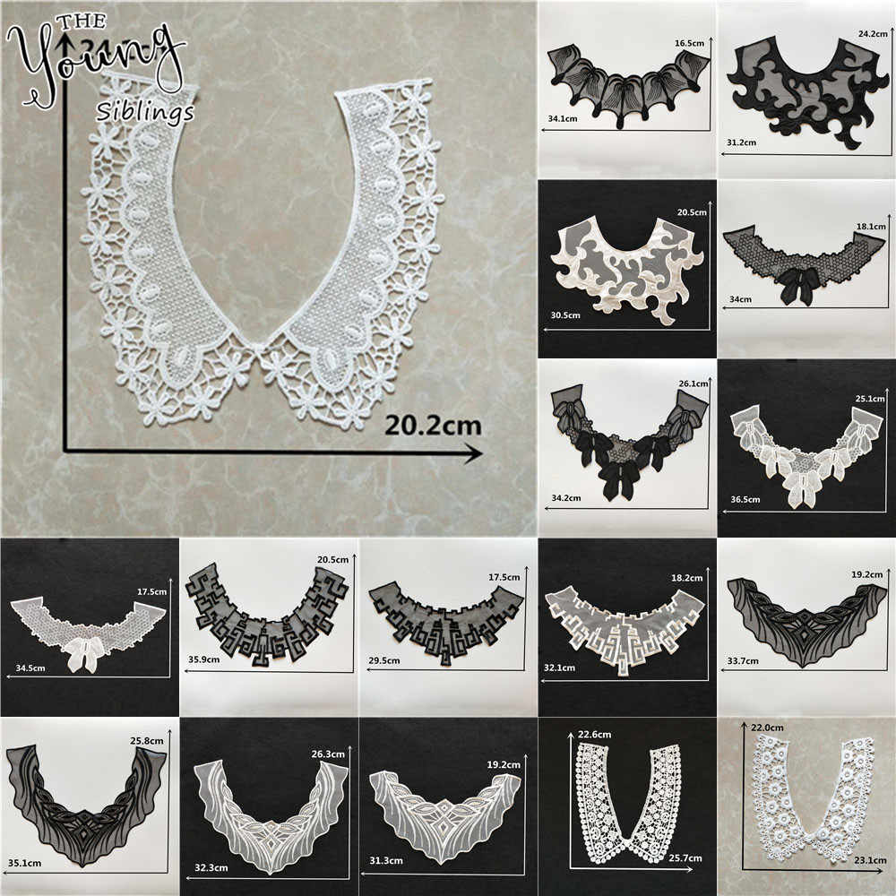 Exquisite Lace Collar Sewing Applique Bride Dress Supplies Embroidery U-type Lace Neckline Clothing Accessories Scrapbooking