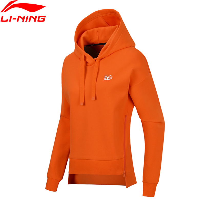 Li-Ning Women Sports Life Po Knit Hoodie Sweaters Fitness Comfort Zip Jackets Loose Fit LiNing Sports Sweaters AWDN018 WWW960 li ning women training sweat pants loose fit polyester spandex comfort lining sports pants akln016 wky155