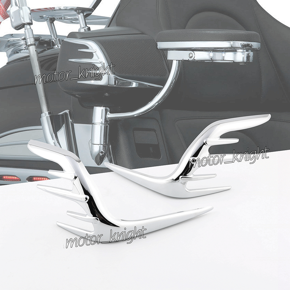 Motorcycle Chrome Motorcycle Passenger <font><b>Speaker</b></font> Outer Trim For Honda Goldwing GL1800 2006-2018 11 12 13 <font><b>14</b></font> 15 16 17 image