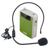 Rolton K300 Portable Megaphone Voice Amplifier Band Waist Radio Clip Support FM TF MP3 Speaker Power Bank Tour Guides, Teachers