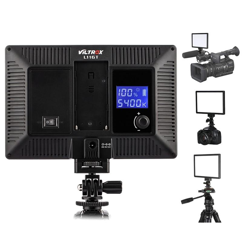 Viltrox L116T Ultra Thin LED Video Light Panel 3300 5600K Bi Color Dimmable 15W for DSLR
