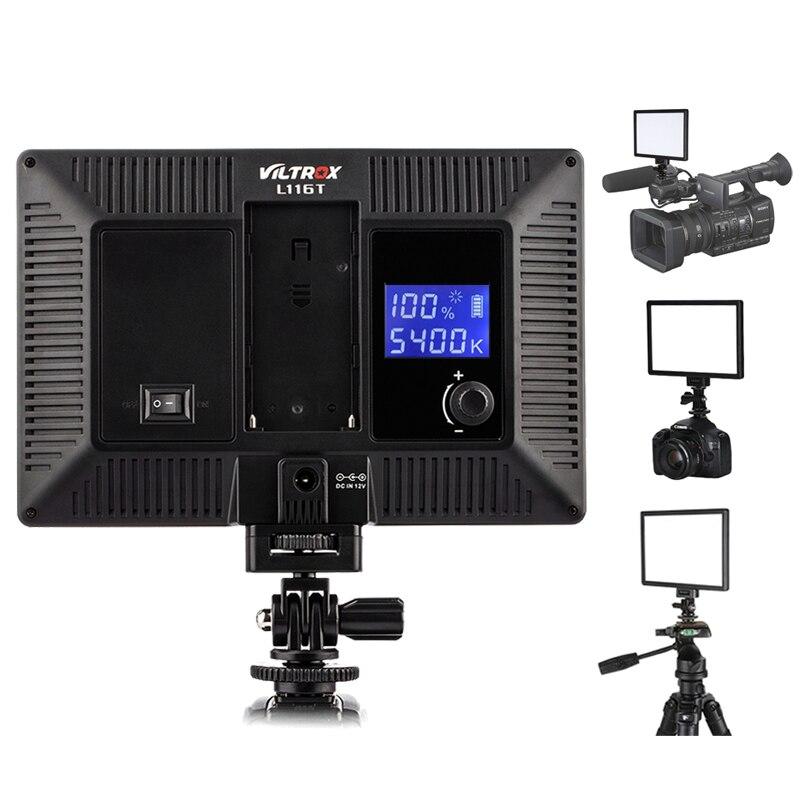 Viltrox L116T panneau lumineux vidéo Ultra mince LED 3300 5600 K bicolore et Dimmable 15 W pour caméscope DV pour appareil photo reflex numérique-in Éclairage photographique from Electronique    1