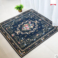 HOT 100X100cm Square European Style Carpet Anti Skid Mat For Living Room Rugs And Carpets Door