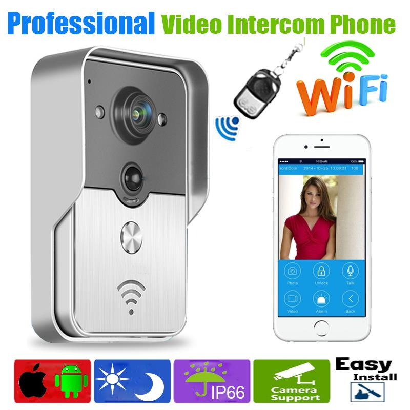 WiFi Mobile phone Doorbell Camera Wireless Smart Video Intercom System IP Door Phones Door Bell  new wifi global doorbell camera wireless video intercom ip video door phone wireless door bell