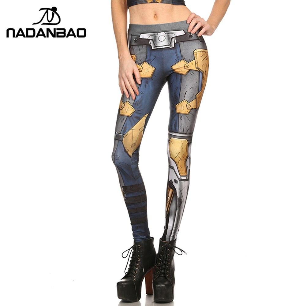 NADANBAO Brand New Women leggings COMIC CYBORG Leggins Printed legins Woman Clothings Лосины