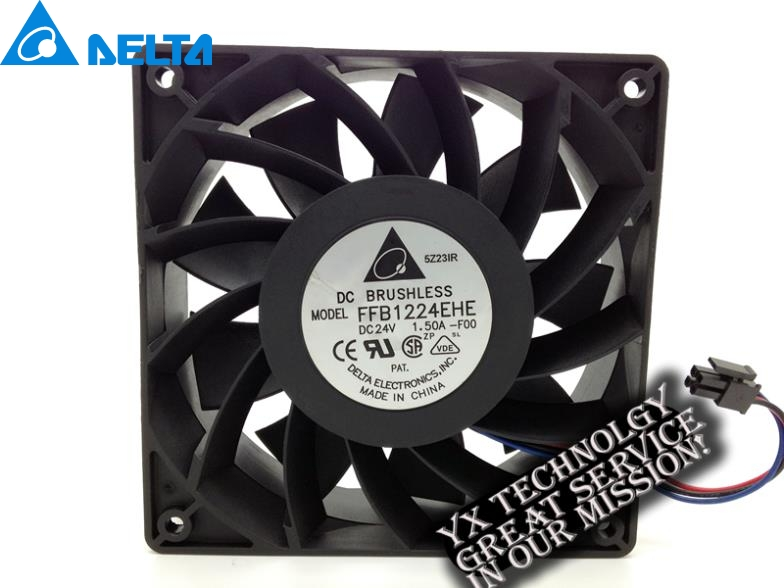 Delta New 12038 24V 1.5A 12cm inverter fan speed FFB1224EHE-FOO 120*120*38mm new original afb1212vhe foo 12038 0 9a winds of double ball bearing fan for delta 120 120 38mm