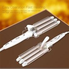 Щипцы керамические для завивки волос, 3 Бочки, 110 220 В