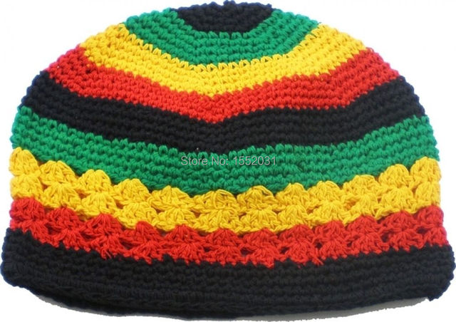 Jamaican Rasta hat Bob Marley hat Jameican hat tams fancy dress costumes  Crochet rasta beanies Gorro Bob marley cap EM-S30 2b94e327e3c