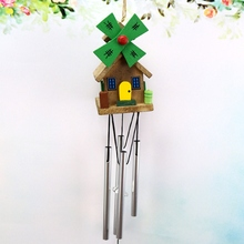 New Small Idyllic Wind Chimes Wooden House Design Wood For Home Garden Decoration Gift