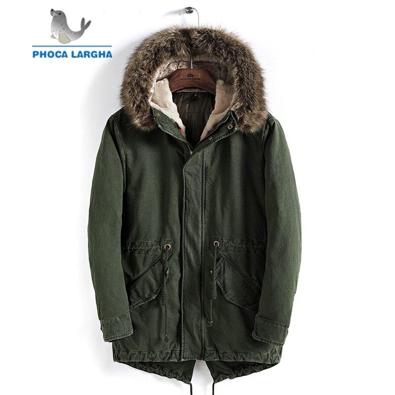 D hiver 2018 Plus Fourrure À army Capuchon Nouvelles Longue Épaisse Chaud  Parkas Casual Hommes Navy 4xl Veste Green M Green Toison ... f6ac8fe4d676