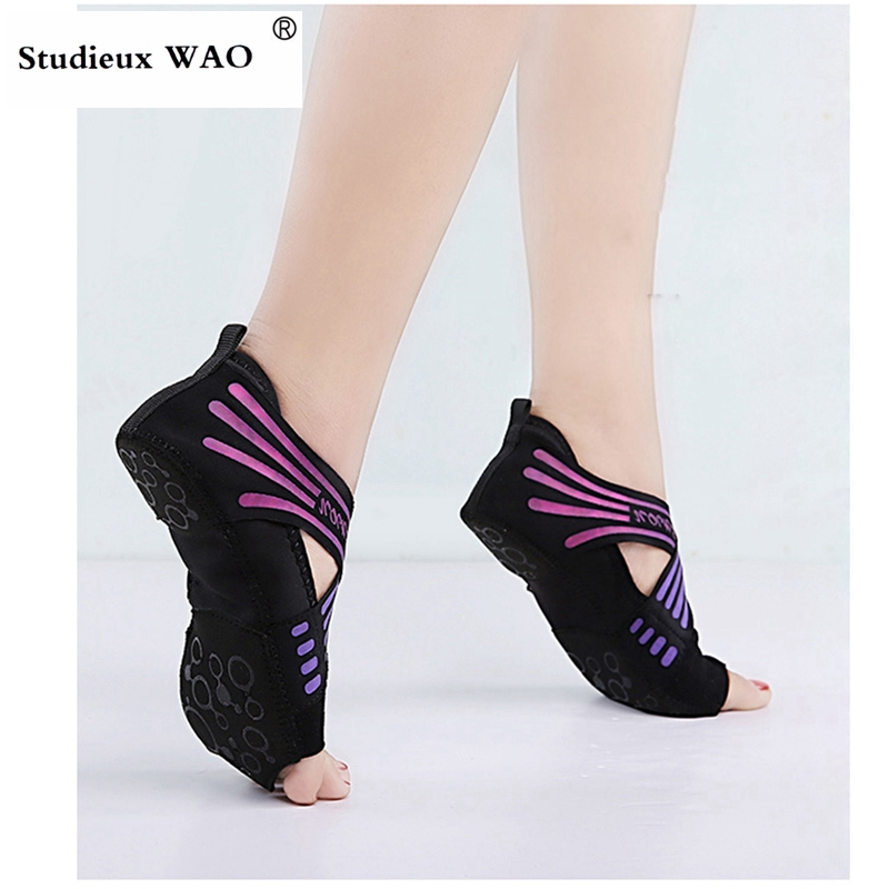 Pilates Shoes Fitness Women Yoga Shoes Cross Training Shoe Ladies Yoga Socks Flat Gym Sneakers Ballet Kids Trainers Dancing Girl
