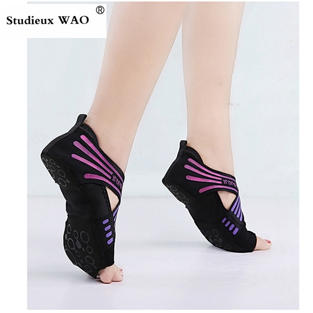 Pilates Shoes Fitness Women Yoga Shoes Cross Training Shoe Ladies Yoga Socks Flat Gym Sneakers Ballet Kids Trainers Dancing Girl