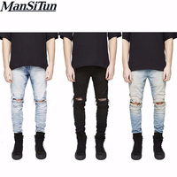2016 The Latest Represent Pants Spring And Autumn Designer Fashion Denim Jumpsuit Destroyed Ripped Distressed Jeans