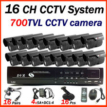 2015 16 CH CCTV system  with 700TVL Outdoor waterproof home security system CCTV camera IR30M  surveillance system