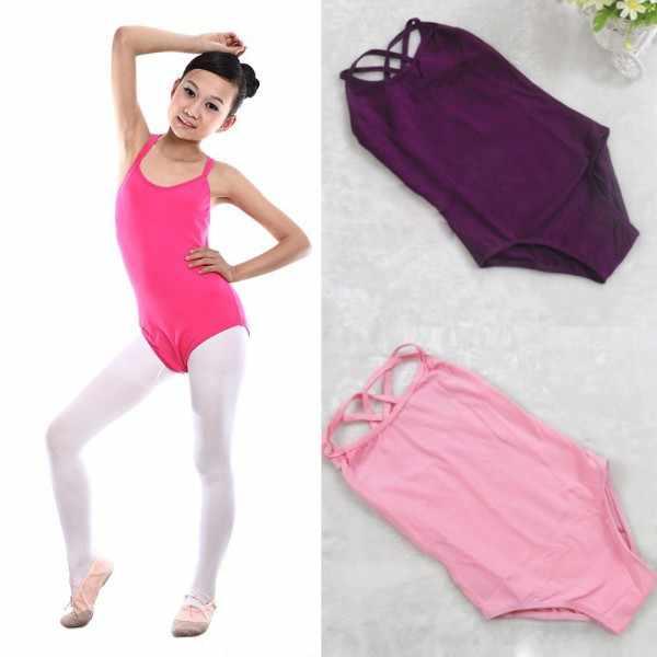 ילדה ילד שרוולים ריקוד התעמלות בגדי גוף בלט בגד גוף תלבושות