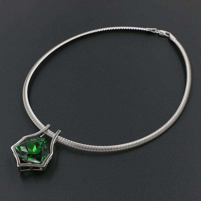 Bib declaração de jóias geométrica genuíno cristal austríaco pingente choker colar 4 cores mulheres acessórios de moda