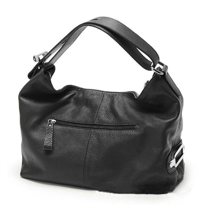 2018 neue Mode Weichen Reale Echtes Leder Quaste frauen Handtasche Damen OL Stil Schulter Tote Handtasche Schulranzen Schwarz - 2