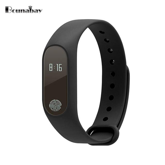 Bounabay женщина сердечного ритма шагомер Bluetooth4.0 умных женщин часы для Apple телефона Android водонепроницаемые часы Сенсорный экран Часы