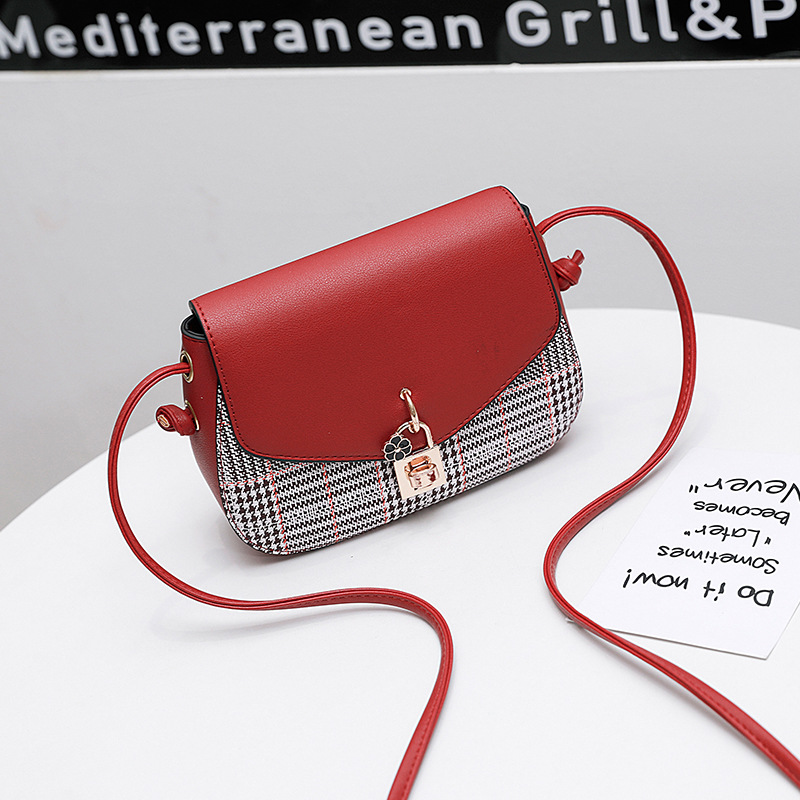 7123389724 Women s Shoulder Bag PU Handbag Lattice Latch Cross Bag 2018 New Products  Hot Selling For Young Women To Deliver Quickly-in Shoulder Bags from  Luggage ...