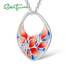 Pendant Fit For Necklace Chain for Women Colorful Enamel Flower Pendant White Cubic Zirconia Pendant Party Fashion Jewelry(China)