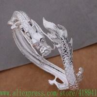925 Sterling Silver Bangle Bracelet 925 Silver Fashion Jewelry Dragon Ebkamsra Bcmajtta AB138