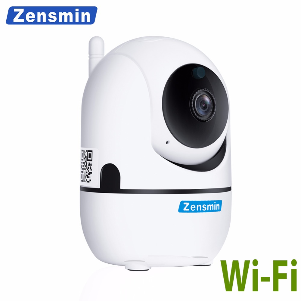 Zensmin 720P wifi ip camera mini wireless ip camera sd card auto tracking cctv camera ptz 360 degree Rotating baby caring camera