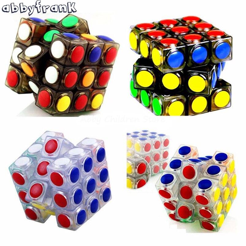 Abbyfrank átlátszó mágikus kocka 3x3x3 sebesség puzzle kocka játék alak Cubos Magicos professzionális puzzle játék verseny gyerekek játék ajándék